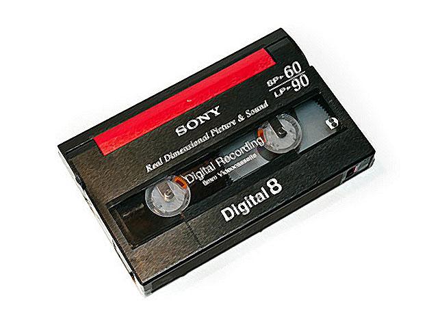 videokasseta Digital8 - Оцифровка видеокассет: типы видеокассет