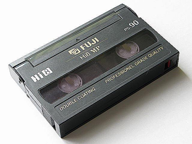 videokasseta Hi8 - Оцифровка видеокассет: типы видеокассет