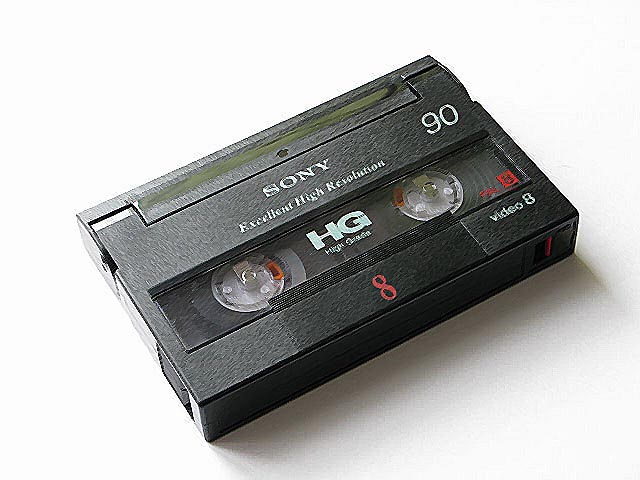 videokasseta Video8 - Оцифровка видеокассет: типы видеокассет